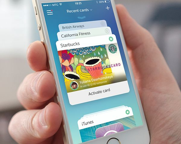 Cardberry iPhone App on Behance