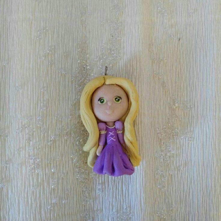 Ciondolo Rapunzel in fimo