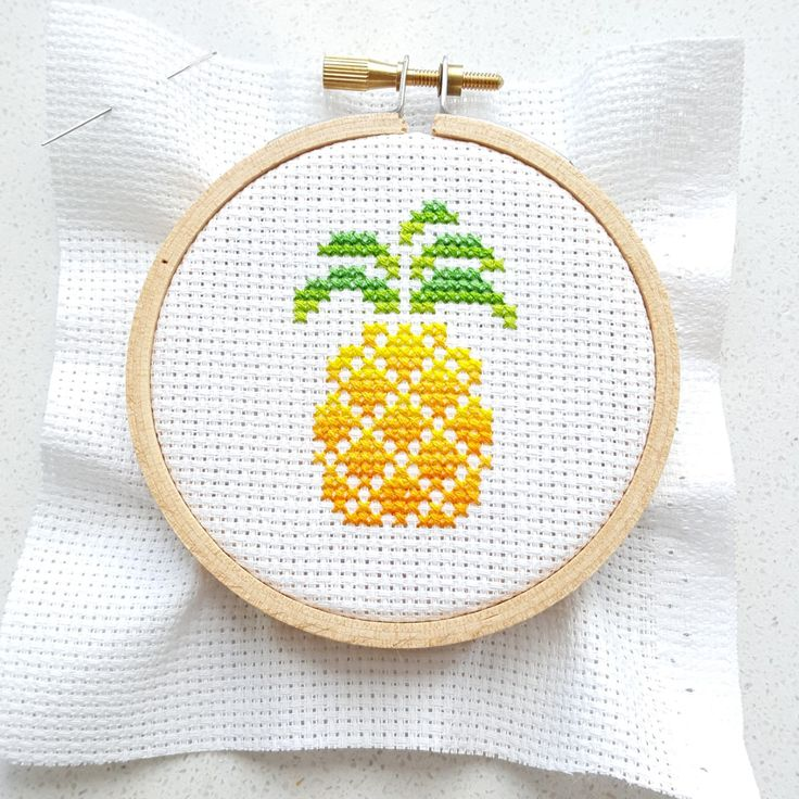 Pineapple cross stitch. Love the color flow :)