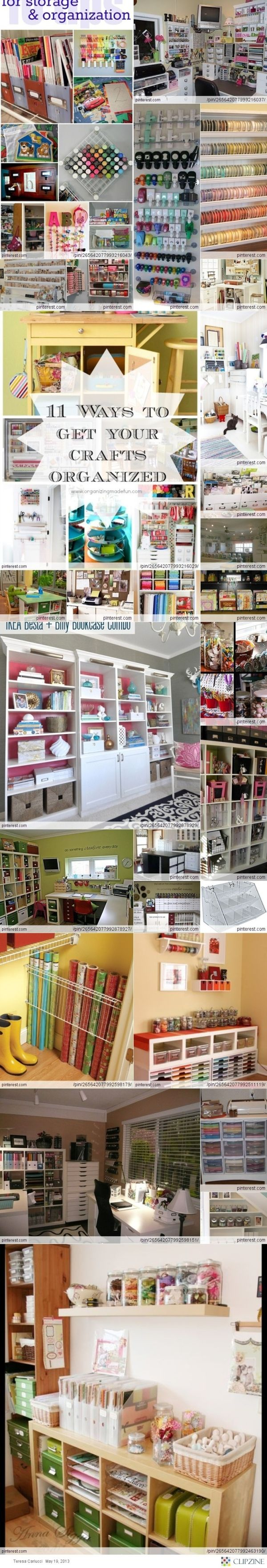 Craft/Scrapbook Room Inspiration for Getting Organized