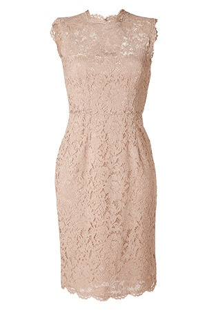 Nude Lace Dress by Valentino