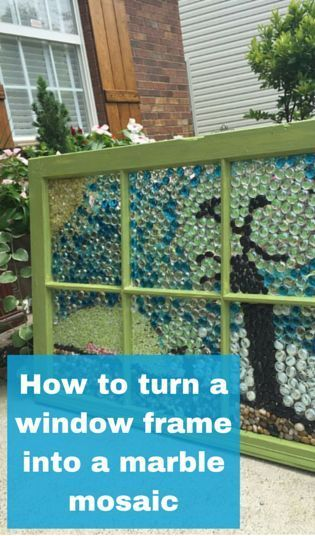 How to turn a window frame into a marble mosaic