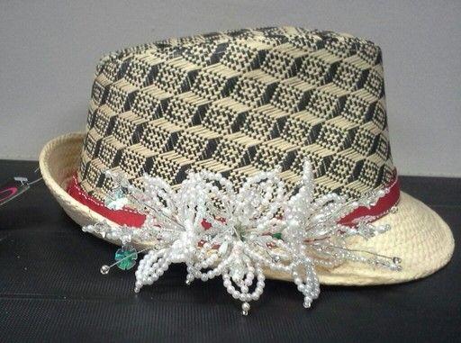 Sombrero decorado con tembleques listo para entrega - Decoracion de sombreros ...