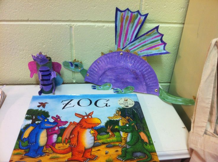 Zog by Julia Donaldson - dragon craft activities