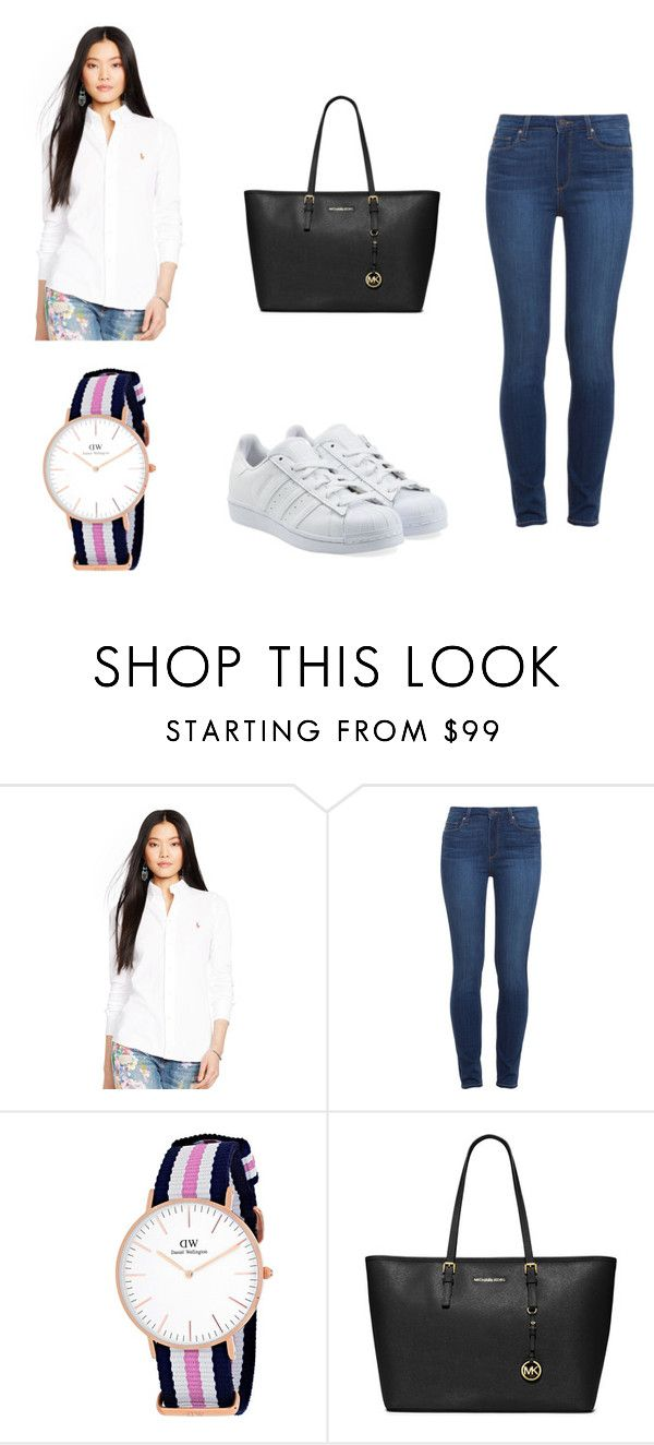"""""""outfit #5"""" by mariachun on Polyvore featuring Ralph Lauren, Paige Denim, MICHAEL Michael Kors and adidas Originals"""