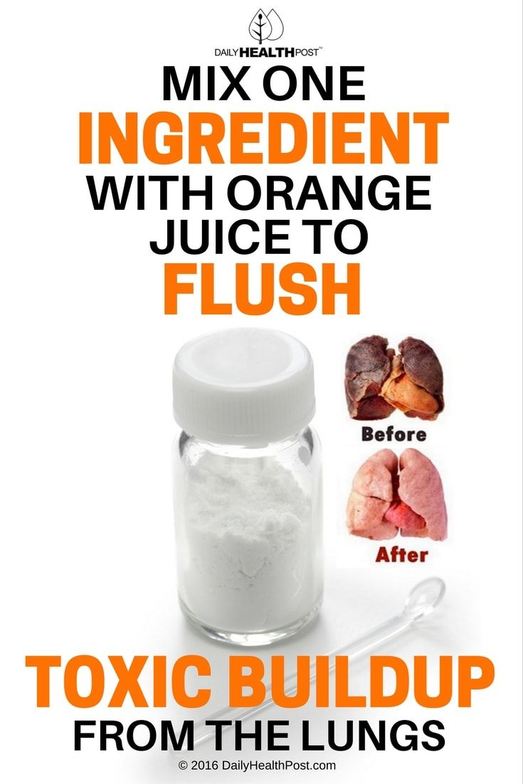 Mix One Ingredient With Orange Juice To Flush Toxic Buildup From The Lungs via @dailyhealthpost
