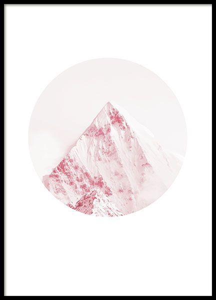 Pink mountain, plakat i gruppen Plakater og posters hos Desenio AB (8489)
