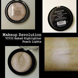 MichelaIsMyName: Makeup Revolution VIVID Baked Highlighter Peach Li...