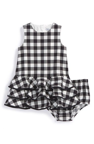 Dolce&Gabbana Gingham Sleeveless Dress & Bloomers (Baby Girls) available at #Nordstrom