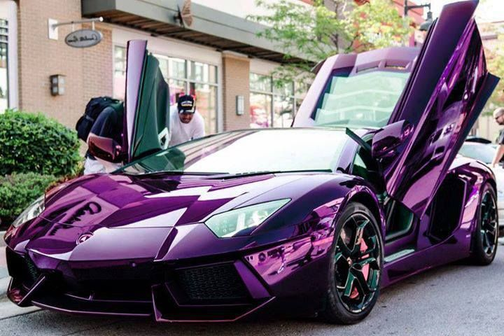 Aventador. Looking splendid in purple #CarFlash