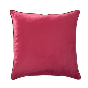 Nigella Cranberry Square Velvet Cushion