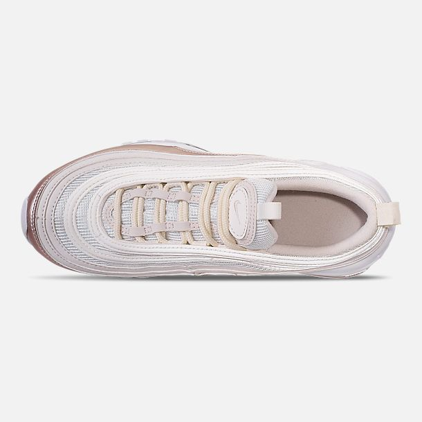 new product 96488 1a1a7 Top view of Girls  Big Kids  Nike Air Max 97 Casual Shoes in Phantom Phantom  Metallic Red Bronze White