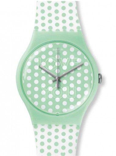 Swatch Unisex Mint Love Watch SUOG108