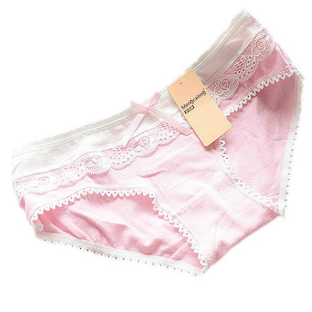 Lovely Briefs Women's Multi-Color Cotton Soft Lace Bow-knot Underwear Briefs Knickers