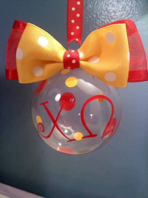 Chi Omega Christmas Ornament