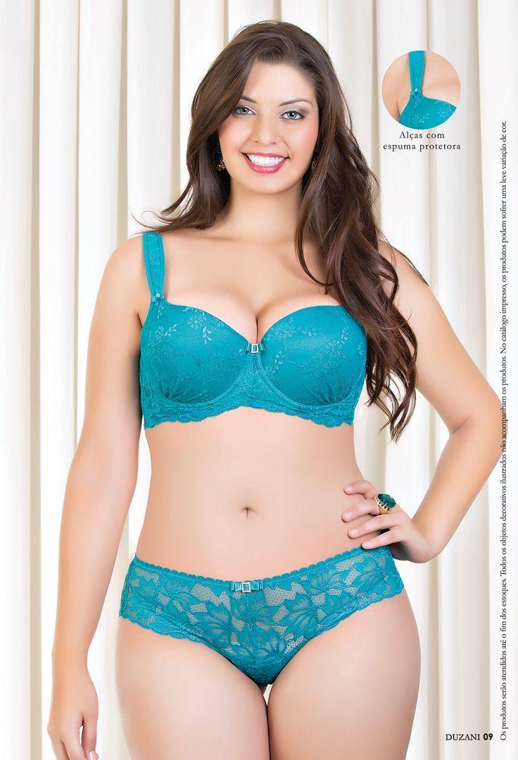 Duzani Plus Size Lingerie Model  Curvy  Plus Size -9010