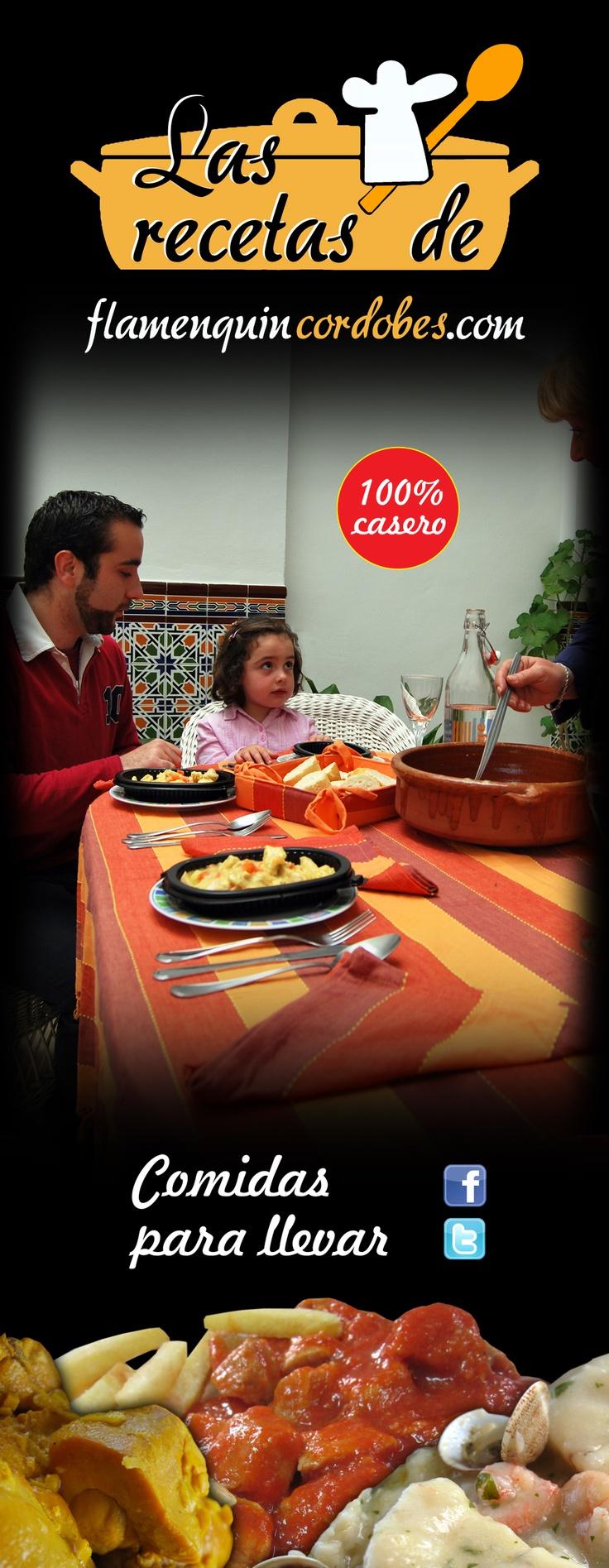 Cartel promocional de 'Las recetas de flamenquincordobes.com'