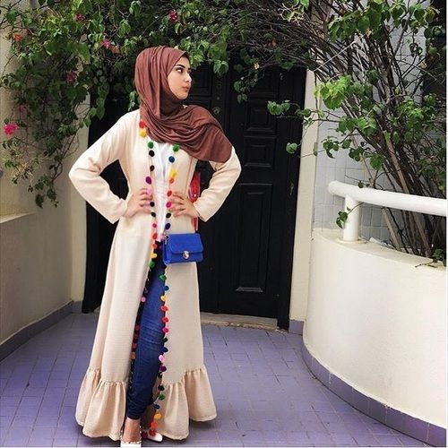 stylish abaya dress- Saudi Abaya fashion http://www.justtrendygirls.com/saudi-abaya-fashion/