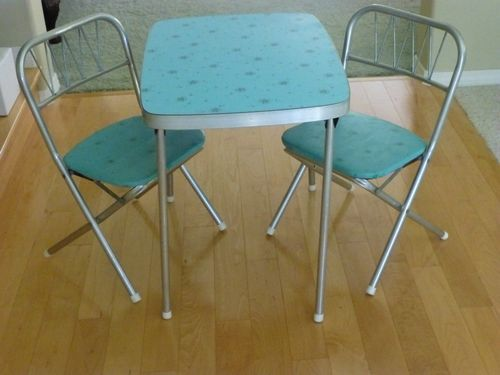17 Best images about Very VTG Kitchen TablesChairsKids on – Vintage Kids Table and Chairs