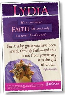 LYDIA - Women of the Bible Bulletin Board Poster Set