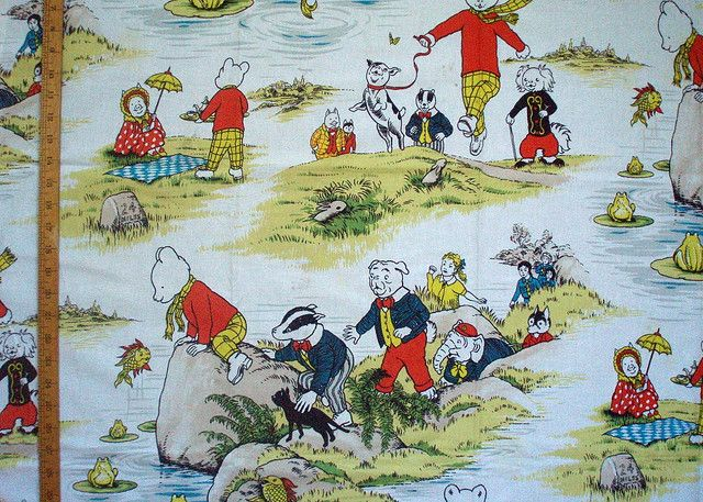Rupert the Bear Fabric