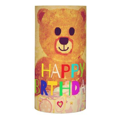 #Happy birthday teddy bear flameless candle - #birthday #gifts #giftideas #present #party