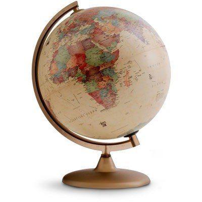 globo terrestre histórico 30cm luminária 110v - tecnodidatti