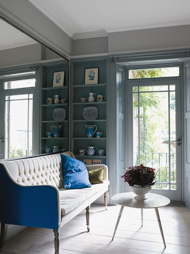 Interior Design #blue #grayinteriors #graylivingroom