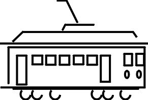 Trolley cliparts