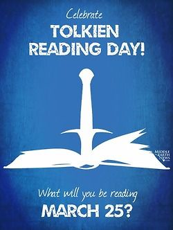 "Did y'all know it's Tolkien Reading Day?!?! Personally, I think it should be a nationally recognized holiday. ""Sorry, boss - it's Tolkien Reading Day - I'm staying home with a cup of tea, some Longbottom Leaf, and the Hobbit today."" Lol :)"