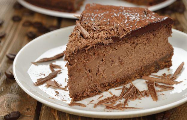 Cheesecake con castagne e cioccolato