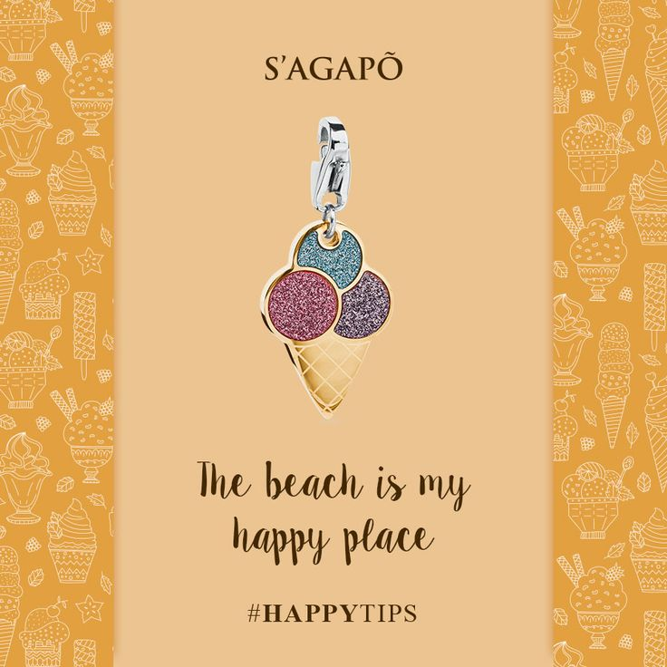 The beach is my happy place #happy #happytips #icecream#summer #estate #charm #gioielli #quote #summerquote