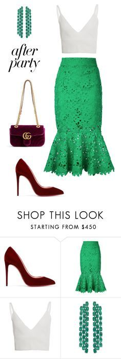 """Untitled #545"" by maylamartha ❤ liked on Polyvore featuring Christian Louboutin, Bambah, Zeynep Arçay and Gucci"