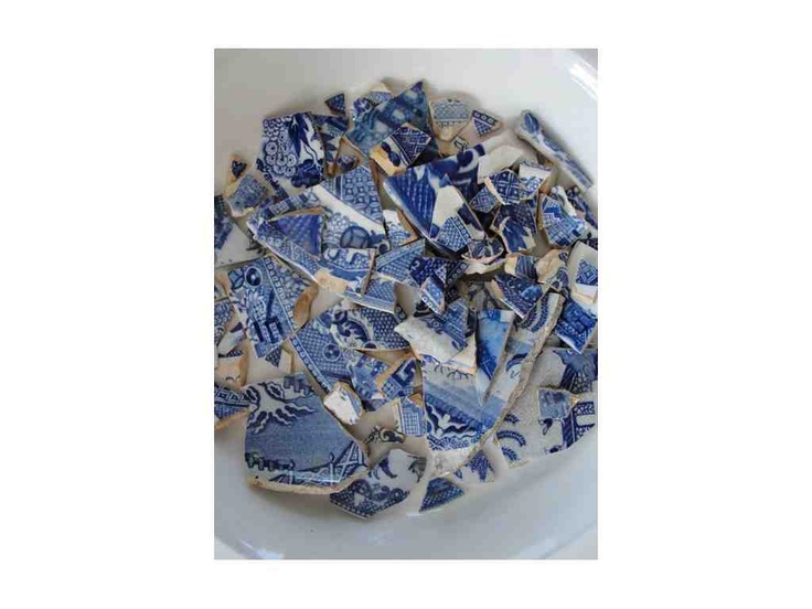 Shards of Delft collected by Michael Chandler of Chandler House.