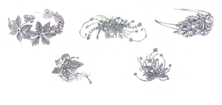 Selection of stunning bridal hair combs @ Mia Sposa Huddersfield 01484421900