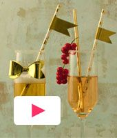 DIY: Extra feestelijke champagneglazen om zelf te versieren