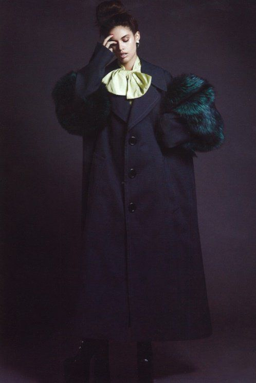 Sara Sampaio wearing Marc Jacobs Fall '16. Shot by Bojana Tatarska, styled by Marine Braunschvig for the Glass Magazine