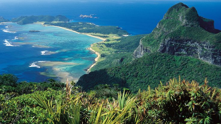 View from Mt Gower, Lord Howe Island, NSW.