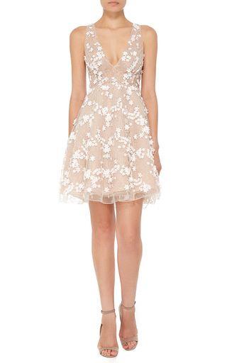 Beaded Tulle Cocktail Dress by Patricia Bonaldi for Preorder on Moda Operandi