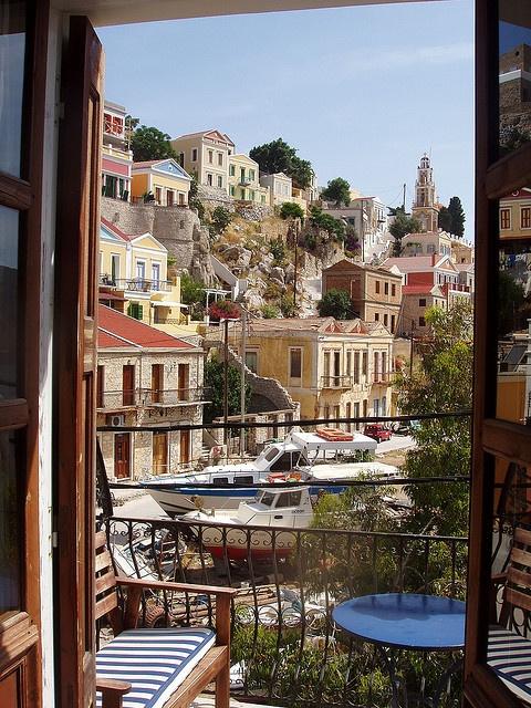 Symi-Greece: view from my balcony