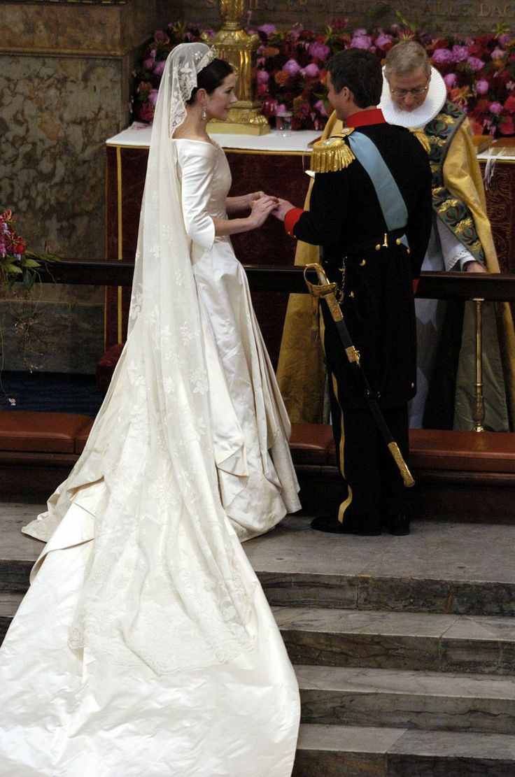 Crown Prince Frederik and Crown Princess Mary were married on 14 May 2004.