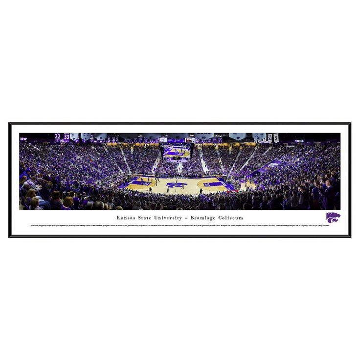 NCAA Blakeway Basketball Arena View Framed Wall Art,