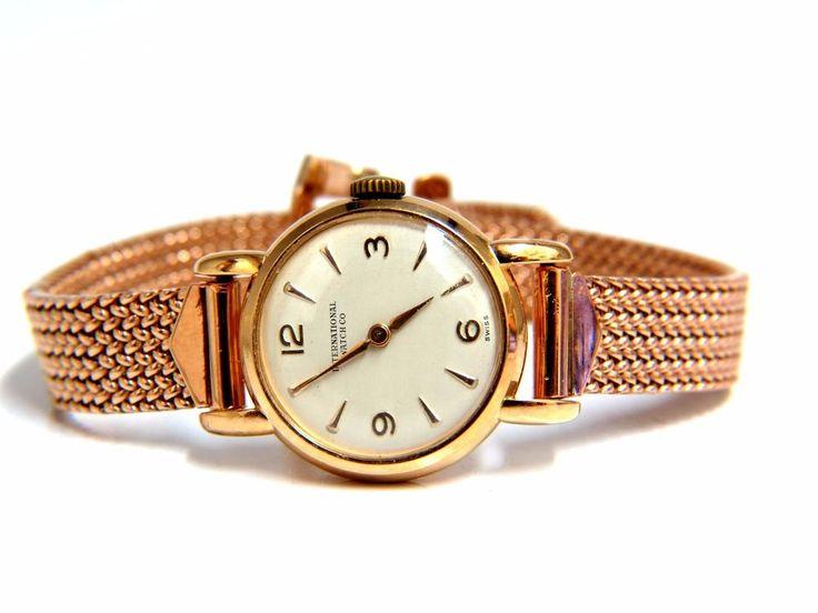14kt IWC Ladies gold watch 14kt Vintage   Jewelry & Watches, Watches, Parts & Accessories, Wristwatches   eBay!