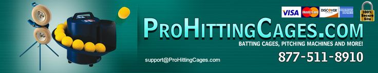 Shop for baseball equipment. Batting cages, pitching machines, bats and more. www.prohittingcages.com