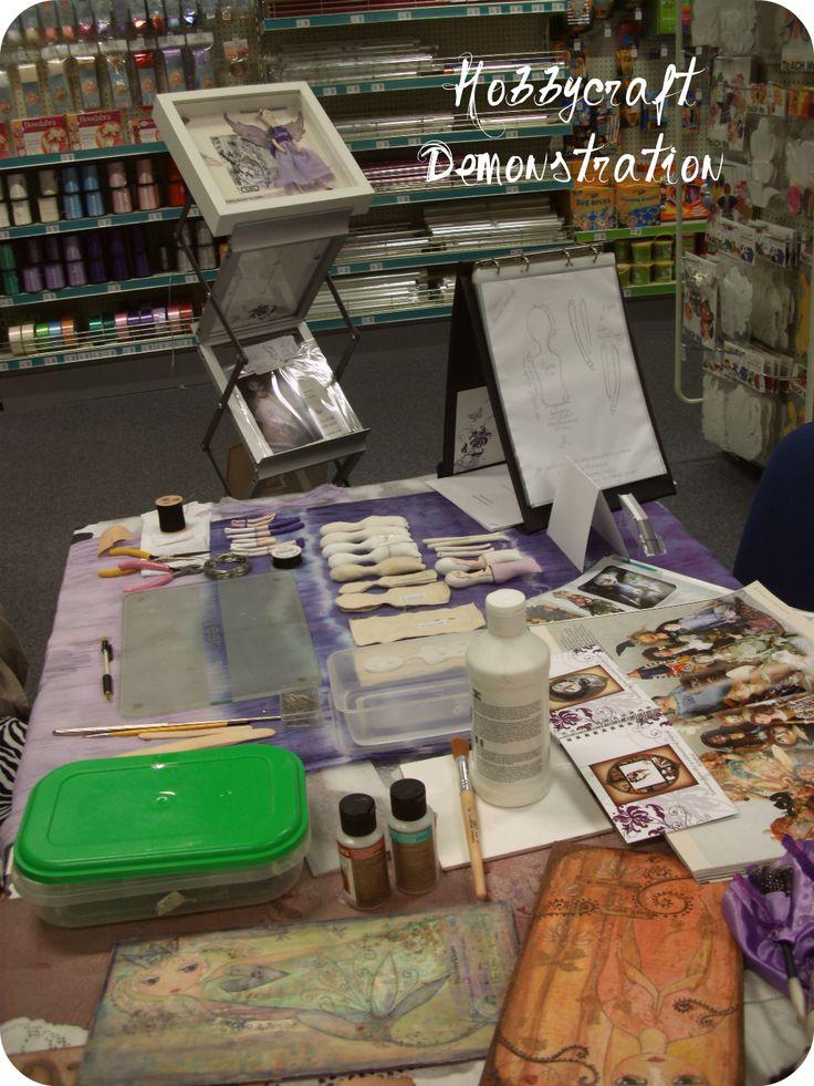 Doll demo at Croydon Hobbycraft Store