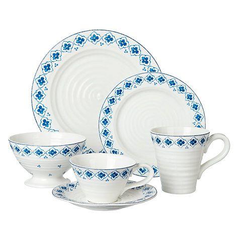 Buy Sophie Conran Eliza Pattern Side Plate, White/Blue Online at johnlewis.com