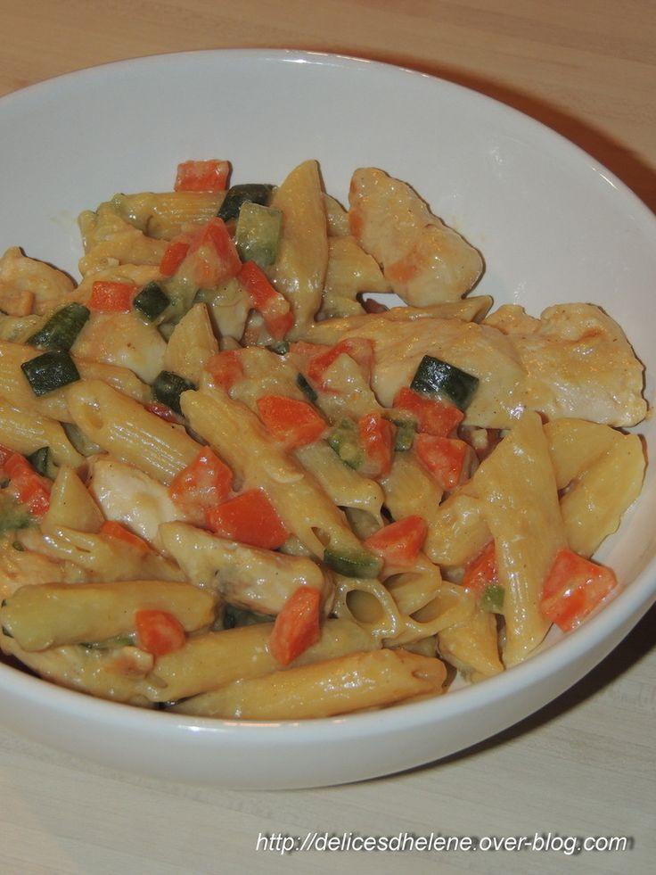 Penne, poulet et légumes façon risotto (WW)