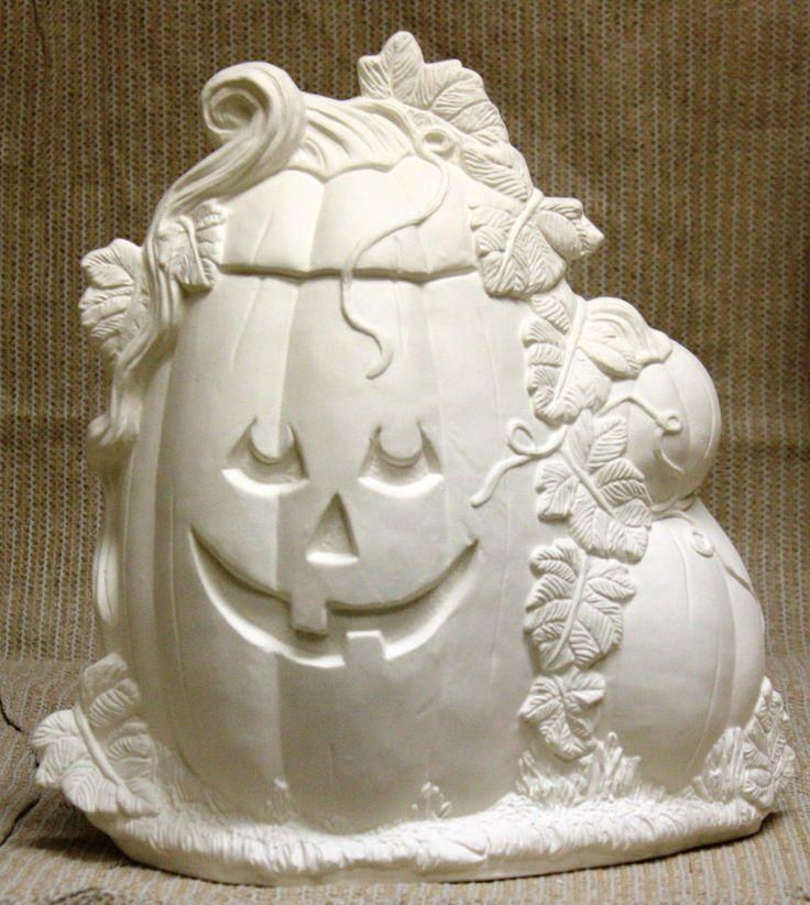 Ceramic Bisque Dumb Pumpkin Large Ceramichrome Mold 2521 U-Paint Ready To Paint #Ceramichrome #UPaint