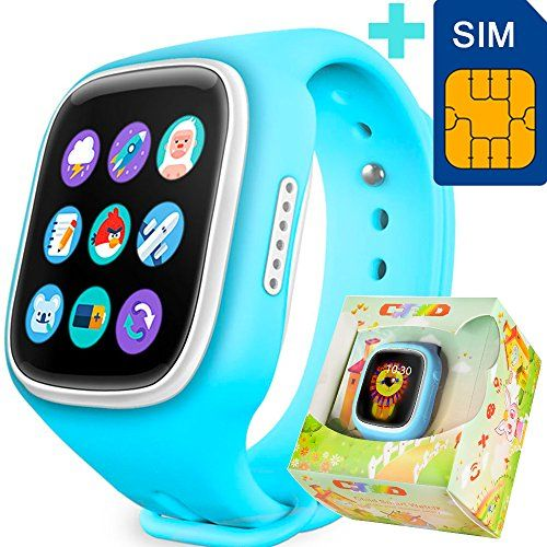 GBD Children Smart Watch Phone for Kids with GPS Tracker Fitness SIM Card Pedometer Anti-lost SOS Finder Touch Screen Smartwatch Wristband Bracelet for Smartphone * Click on the image for additional details.