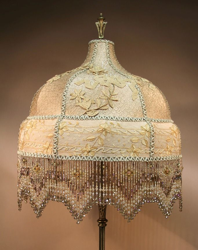 Beaded Lamp Shades Extraordinary 160 Best Victorian Beaded Lamps Images On Pinterest  Chandeliers Design Decoration